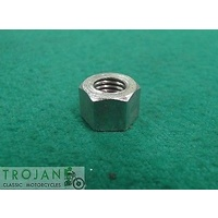 "INLET MANIFOLD TO HEAD NUT, 1/4"" x 28TPI, TRIUMPH, GENUINE, 21-1877"