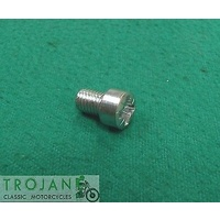 "ROCKER BOX CAP RETAINER SCREW, 1/4"" x 26TPI x 3/8"", TRIUMPH, GENUINE, 57-1553"