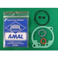 AMAL CARB GASKET SET, MK1 CONCENTRIC. GENUINE, 622/208