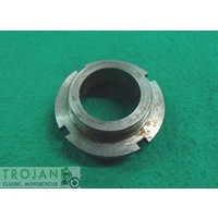 NUT, HYDRAULIC STOP (BOTTOM FORK BUSH RETAINER), TRIUMPH, GENUINE, 97-1058