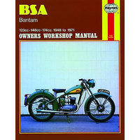 MANUAL, HAYNES, BSA, BANTAM, ALL MODELS 1948-1971, REPAIR MANUAL, BKM0006