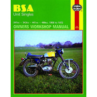 MANUAL, HAYNES, BSA, SINGLES, UNIT, 250/350/440/500, '58-72, BKM0008