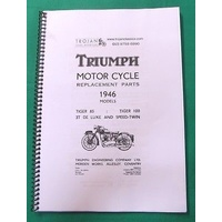 PARTS BOOK, TRIUMPH, PRE-UNIT, 1946, SPEEDTWIN etc., BKP0041