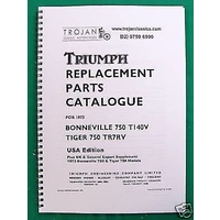 PARTS BOOK, TRIUMPH, 1973, T140V, TR7RV, BKP0050