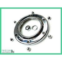 LUCAS ALTETTE HORN BEZEL AND NUT REPLACEMENT KIT, NORTON, BSA, AJS, HRN0017