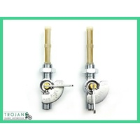 PETROL TAPS, LEVER TYPE, INDICATOR, MAIN/RES, 1/4x1/4, (PAIR) 60-4511, 60-4512