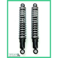 SHOCK ABSORBERS, UNIVERSAL BRITISH, CHROME SPRING,315MM (PAIR),TRIUMPH, SHK0011