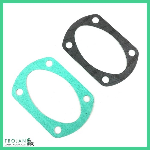 CRANKCASE OIL SUMP FILTER GASKETS, TRIUMPH PRE UNIT (PAIR) GENUINE, 70-0487