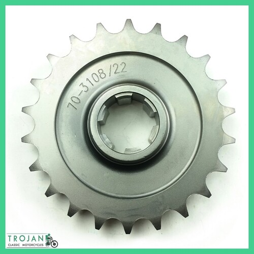 ENGINE SPROCKET, 22T, TRIUMPH, PRE UNIT 1954-62, GENUINE NOS, 70-3108 22T