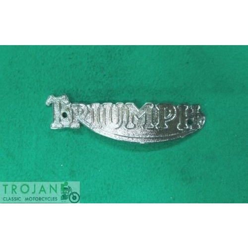 PETROL TANK BADGE, TRIUMPH, PRE-UNIT, 1936-56, GENUINE, 82-1823