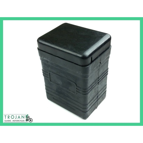 RUBBER BATTERY BOX WITH LID, LUCAS TYPE, TRIUMPH, NORTON, BSA, AJS, BAT0001