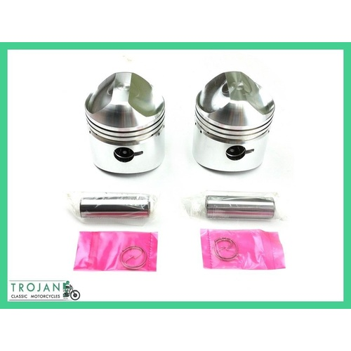 PISTON SET, TRIUMPH, 500, UNIT, 0.060, 68 ON, E6884 /60, 70-6884 /60, ENG0109